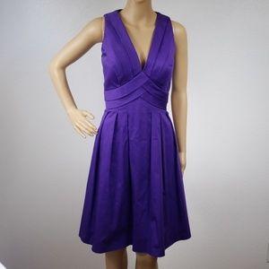 Calvin Klein | Purple Formal Midi Dress Size 8 B23